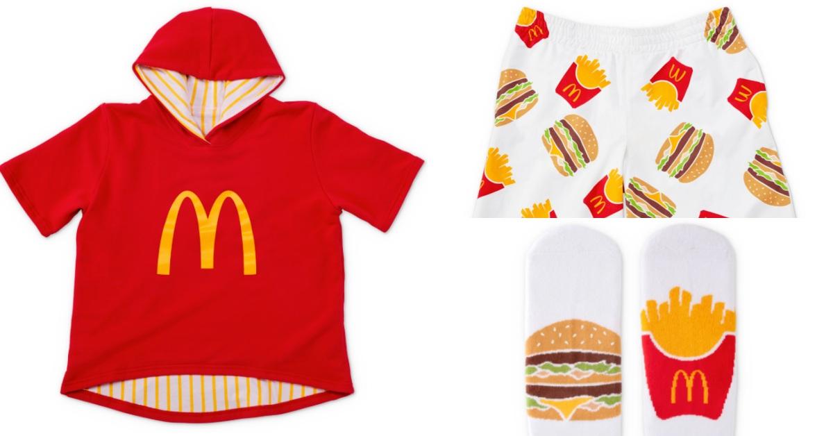 麥當勞鐵粉專屬周邊爆炸可愛!歡慶「國際歡樂送日」,把漢堡薯條印在睡衣、毯子上!
