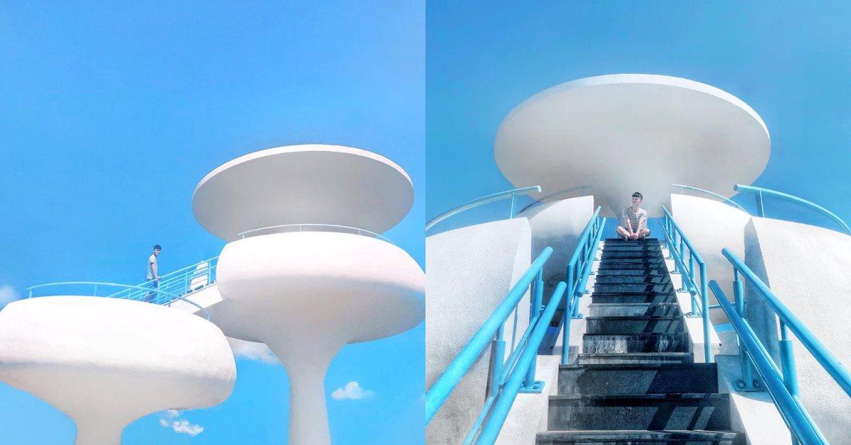 澎湖超美純白系IG打卡景點「風櫃聽濤」太美了!在涼亭裡聽海哭的聲音
