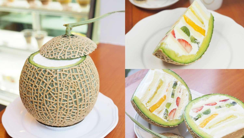 日本大阪人氣甜點la vie bonbon推出可愛「哈密瓜蛋糕」!浮誇切面再罪惡都要吃