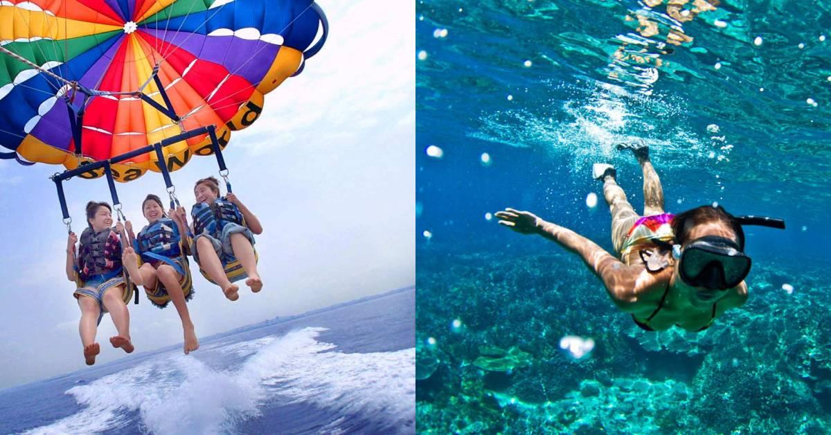 【日本】沖繩怎麼玩?沖繩水上活動精選推薦:海上拖曳傘、獨木舟、水上摩托車、香蕉船一個都別放過!