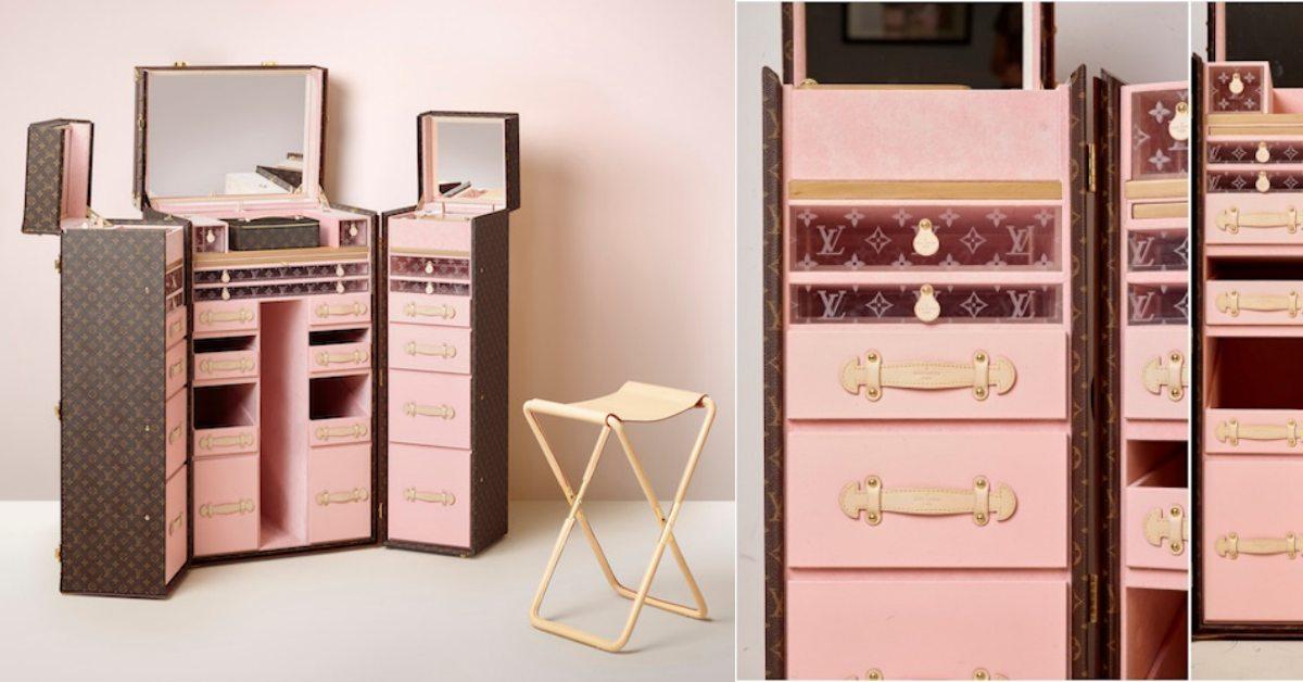 少女心必備「LV粉色Logo化妝箱」!還推頂級下午茶箱、酒箱來榨乾荷包