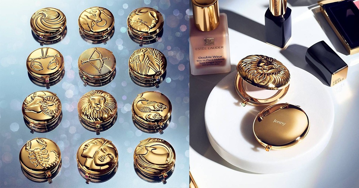 美到沒朋友!雅詩蘭黛最新12星座粉餅,金色復古外型宛如女王的珠寶盒
