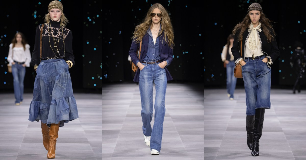 Celine在時裝周用這4招教你牛仔穿搭?都會感、中性風格一次學起來