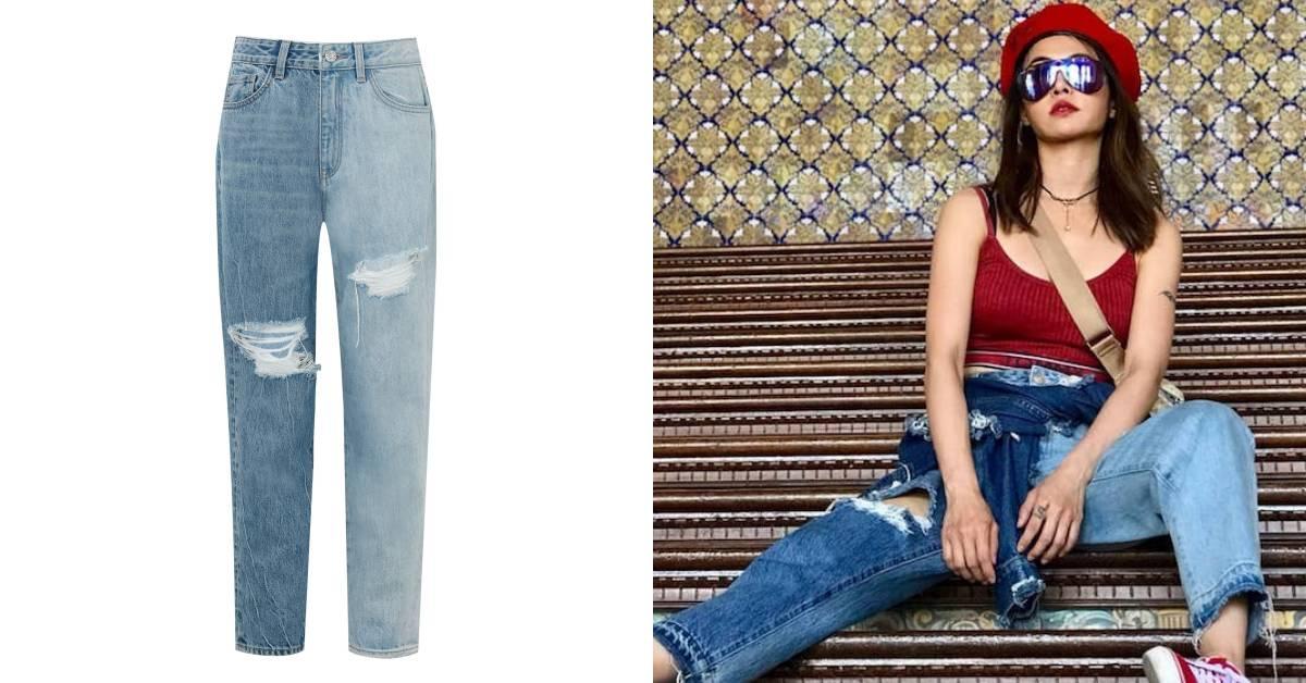 蔡依林西班牙度假穿搭被問爆!原來她腿上這條「拼接牛仔褲」台灣能買得到
