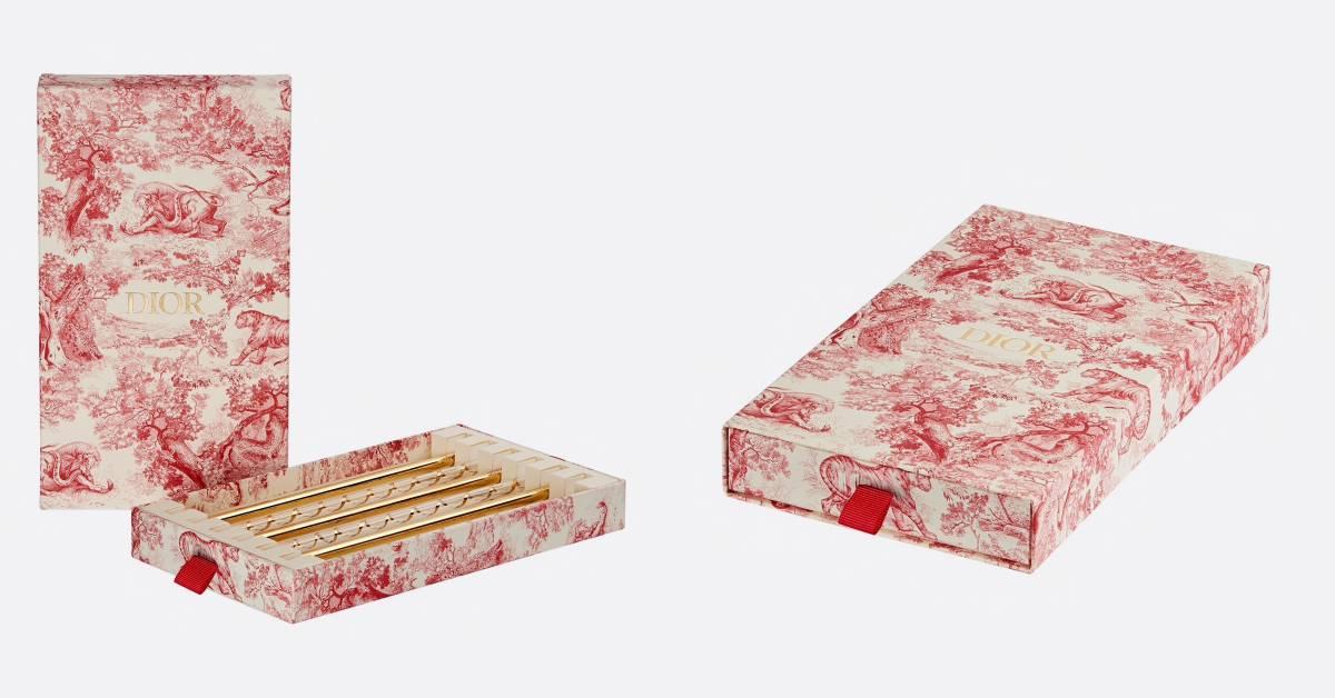 別再用塑膠吸管啦!Dior手工訂製環保吸管,白底紅花美得讓人捨不得用