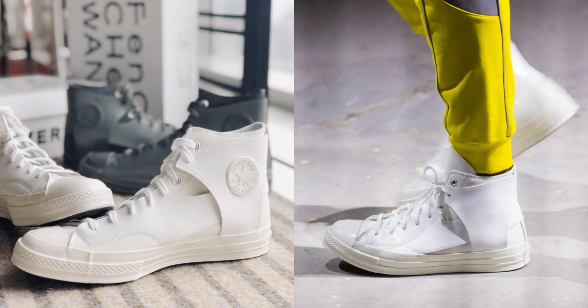 Converse新款小白鞋曝光!時裝週限定設計拼接款式真的太美