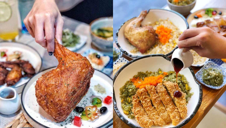 【食間到】行天宮開幕兩個月就爆紅的《蔚稻食堂》!多汁炸豬排、青醬炒飯上班族狂推