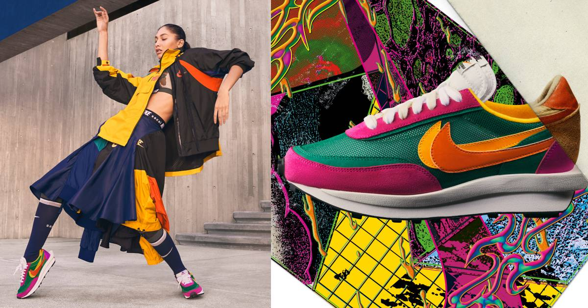 Nike最保值鞋款上市!與Sacai合作設計的撞色、拼接超可愛!