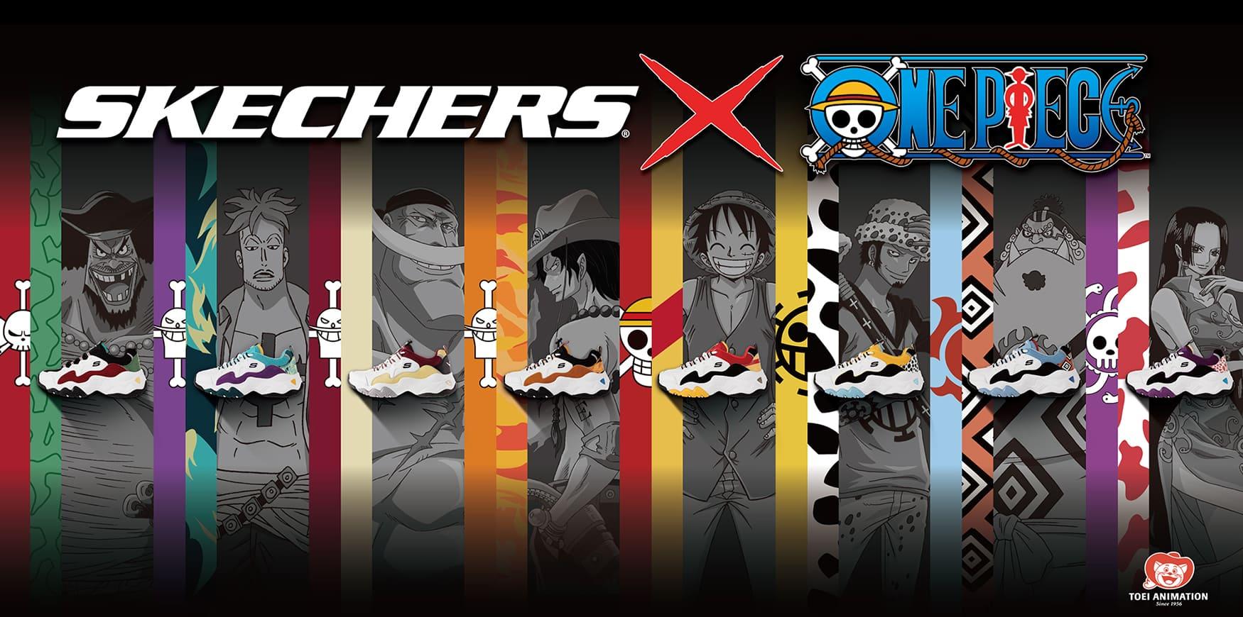 穿上SKECHERS成為海賊王! SKECHERS x ONE PIECE聯名鞋款上市全球唯一八款齊發