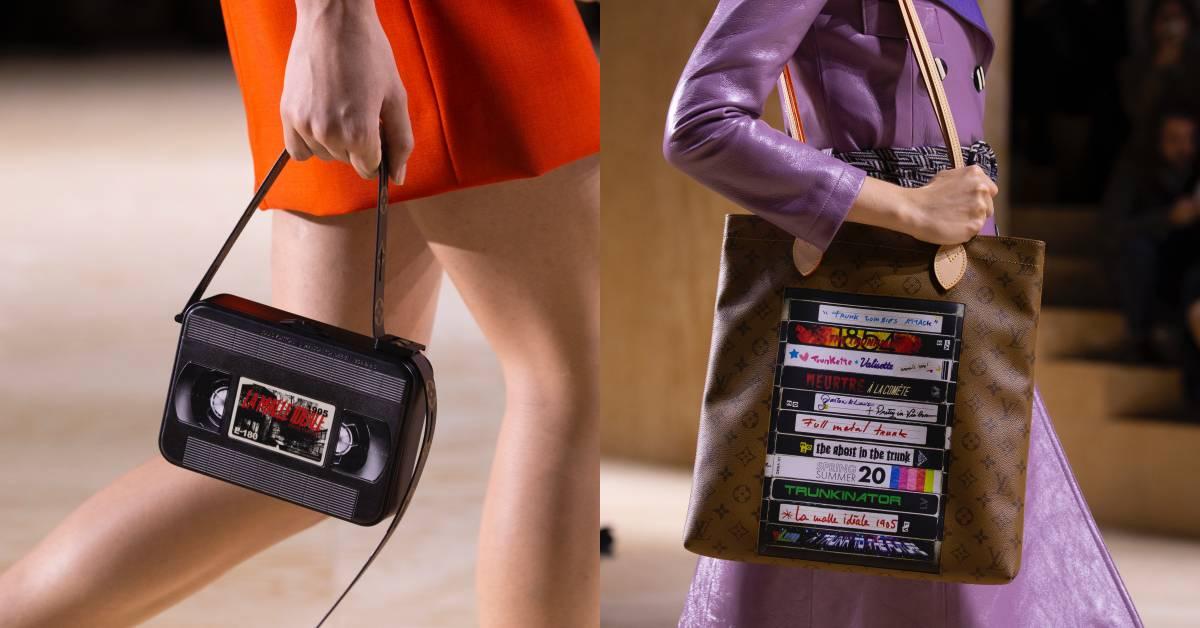 巴黎時裝周壓軸登場!LV用「錄影帶包」在網路掀起熱議!