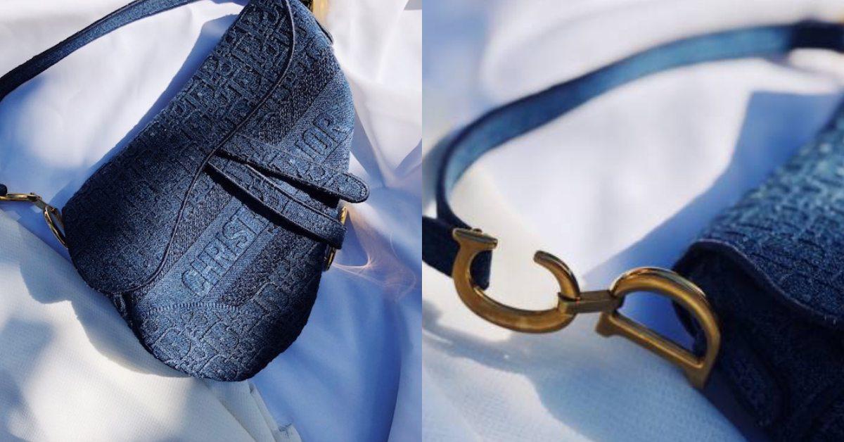 Dior馬鞍包、托特包新款全換上牛仔布!Logo配立體刺繡,不想撞包就買它